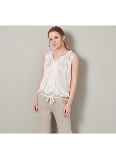 Chakra Lil Kadın Bluz Beyaz